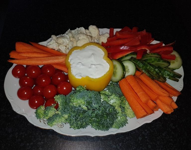 zeleninový talír